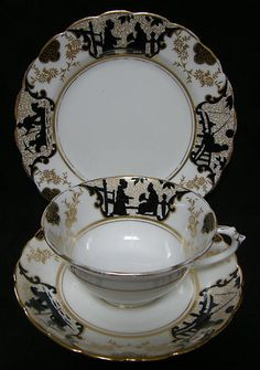 VINTAGE 1920's Tuscan China Silhouette pattern