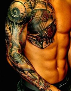 Tattoo Biomechanics Torso - http://tattootodesign.com/tattoo-biomechanics-torso-2/ | #Tattoo, #Tattooed, #Tattoos