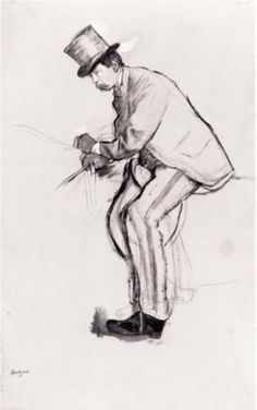 Amateur Jockey - Edgar Degas Completion Date: 1870 Style: Impressionism Genre: sketch and study Technique: indian ink, brush