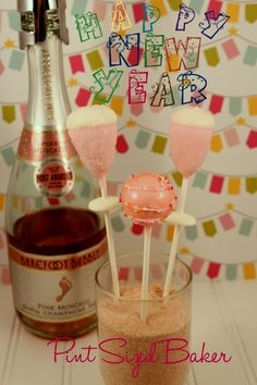 Happy New Year! Pint Sized Baker: Champagne Cake Pops