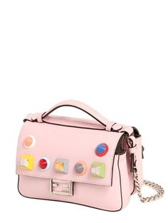 a56854cffd FENDI MICRO DOUBLE BAGUETTE STUD LEATHER BAG
