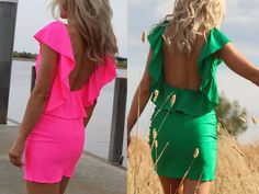 So beautiful I love that the back is highlighted with the ruffle