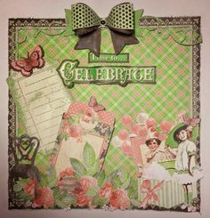 Graphic 45 Time to Celebrate magnet memo board / lo By Anne Rostad