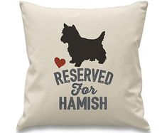 Reserved for West highland terrier West Highland Terrier, Westies, Dog Breeds, Personalized Gifts, Cushions, Throw Pillows, Design, Toss Pillows, Toss Pillows