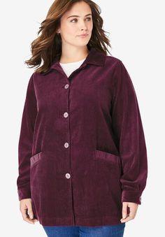 Pleat-Back Corduroy Jacket, Winter Outfits Women, Winter Jackets Women, Coats For Women, Cute Jackets, Corduroy Jacket, Jackets Online, Long Sleeve Sweater, Outerwear Jackets, Plus Size