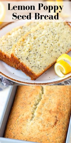 Easy lemon poppy seed bread recipe – this quick lemon bread takes 10 minutes to prep and less than an hour to bake! With option to add lemon glaze. Best Dessert Recipes, Easy Desserts, Delicious Desserts, Yummy Food, Most Popular Desserts, Popular Recipes, Cooking Recipes, Cooking Stuff, Cooking Ideas