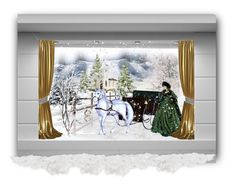"""""""Winter Window... Sleigh Ride"""" by marvy1 ❤ liked on Polyvore featuring art"""