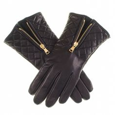 Black Leather Quilted Gloves with Cashmere Lining (1 095 SEK) ❤ liked on Polyvore featuring accessories, gloves, black biker gloves, black shawl, black gloves, leather gloves and quilted leather gloves