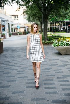 The Perfect Checkered Dress for GNO • Uptown With Elly Brown @kroger @fmjewelers
