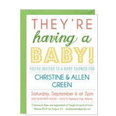 Poster Baby Shower Invitation- it's not just mommy who is expecting....