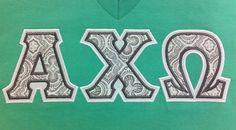 Ready to Ship Greek Letter Shirt-