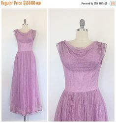 30% OFF SALE  50s Lilac Purple / Pink Lace by CheshireVintageShop