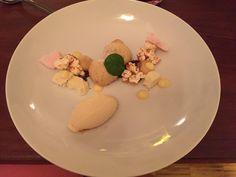Dessert mit Popcorneis im BO'TECA di vino in Stuttgart. Lust Restaurants zu testen und Bewirtungskosten zurück erstatten lassen? https://www.testando.de/so-funktionierts