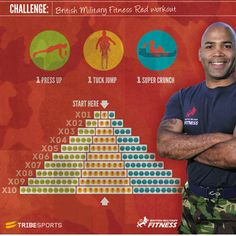 British Military Fitness Red Workout | Challenges | Tribesports