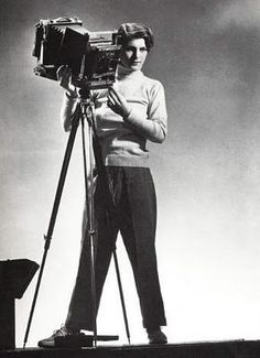 June Margaret Bourke-White - female war correspondent for Life magazine, first staff photographer for Fortune. A lot of the amazing LIFE magazine cover photos are hers; Stalin & Churchill come to mind.