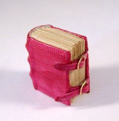 Handmade Miniature Leather Pocket Journal Diary Mini Book Desk Art Conversation Piece