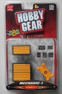 MECHANIC 1 1:24 Scale HOBBY GEAR GARAGE Diorama ACCESSORY TOOLS CREEPER TOOL BOX #HobbyGear