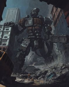 (via Robot of the ruins by YONG - YongSub Noh - CGHUB)- -awes color palette