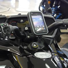 eCaddy® URBAN Hydra Waterproof Motorcycle GPS & Phone Mount for Can-Am…