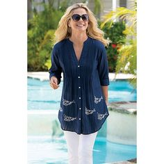 Something Fishy Shirt from Soft Surroundings on Catalog Spree