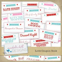 Digital Dream Books: Custom Photo Books & Digital Scrapbooking with Heritage Makers: Valentine Coupon Book {FREE Printable!}