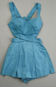 1960, Sky Blue Vintage Bathing Suit by Tom Brigance ...love the deets