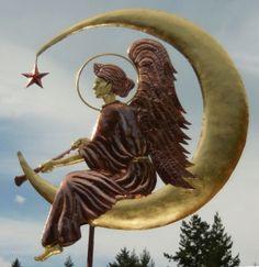 Angel weathervane on the Moon