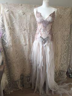 Tattered wedding dress,Vintage inspired wedding,tattered clothes ...