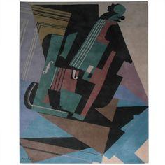 Juan Gris Violin Cubist design art Carpet