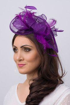 3b6308d048146 Purple Fascinator -