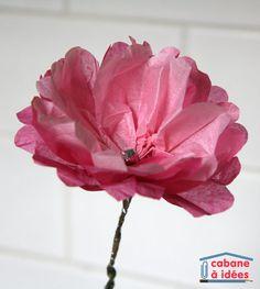 Dernièrement, nous avons fabriqué de nombreuses fleurs en papier de soie, car c'est le printemps et ma fille aime les fleurs ;) Internet regorge de tutoriels pour fabriquer des fleurs et on trouve des modèles vraiment sublimes, délicats, superbes. Néanmoins, pour de petites mains, j'ai cherché des modèles simples à réaliser et je dois dire que la technique que nous avons employée pour fabriquer des pivoines (mais aussi des oeillets de des dahlias) est vraiment archi simple ! Matérie...