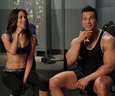Autumn Calabrese and Sagi Kalev in one workout - yes please! These trainers crack me up and motivate me like nothing else! Hammer and Chisel is amazing!!