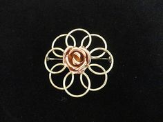 Vintage Rose Gold Plated Brooch $15