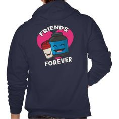 Workout Friends Forever - Cute Kawaii Funny Gym Hoodie