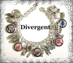 DIVERGENT Themed Jewelry Book Themed Charm by princessofscraps, $36.99