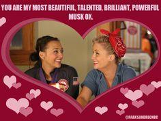 Leslie and Ann / Valentine's Day / #ParksandRec
