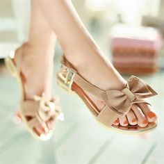 Ruilifu™  2014 summer new style flat sandals comfortable bowknot women shoes