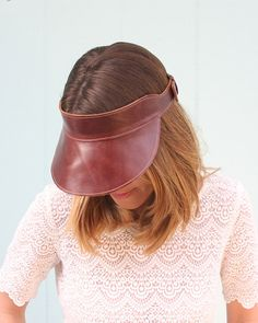 The Rockafellow Leather Visor by #RightTribe on #Etsy