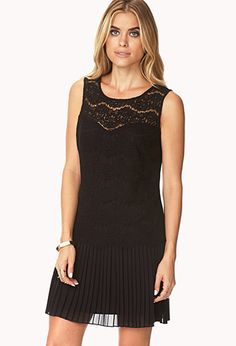 Lovely Lace Pleated Dress | FOREVER21 - 2027704312 $30
