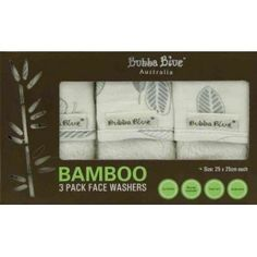 Bubba Blue - Bamboo Leaf 3pk Face Washers: Wash and bathe your baby with love with the help of this Bamboo Pack of 3 Face Washers. Soft-to-the-touch cloths made from Bamboo fibres, the Face Washers will become a well-loved essential of your baby's bath time. Fully reversible with the printed soft Bamboo Muslin backing. #alltotstreasures #bubbablue #bamboo #bamboofacewashers #facewashers #babybath