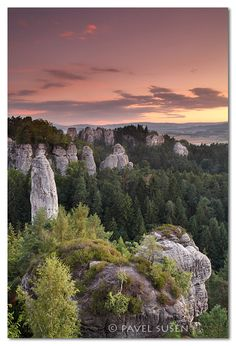 Český ráj - Vyhlídka na Kapelu. Rock City in Bohemian Paradise is a Protected Area. It was declared in 1955 as the first nature reserve in the Czech Republic. At first it was 95 square kilometres in area; today it is almost 182.