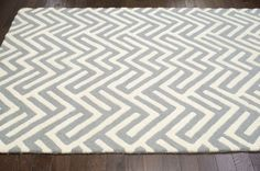 Tuscan Geometric Lattice VS74 Grey Rug | Contemporary Rugs