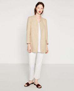Image 1 of LINEN FROCK COAT from Zara