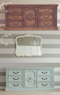 Winter Mint Buffet Before & After [your pick] | Picklee - paint: frozen pond behr