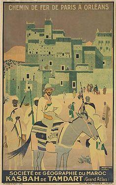 chemin de fer de paris à orléans - Kasbah de Tamdart - Société de géographie du Maroc - 1929 - (Jacques Majorelle) -