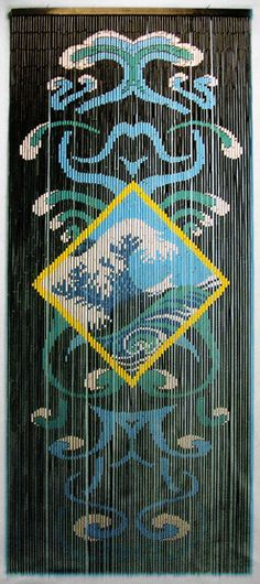 Reef Turtles Bamboo Door Beads   Beaded Curtains   Pinterest ...