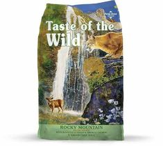 Taste of the Wild Rocky Mountain Grain-Free Roasted Venison & Smoked Salmon Dry Cat Food, 5 lbs. Wild Bird Food, Wild Birds, Dry Cat Food, Venison, Natural Flavors, Smoked Salmon, Rocky Mountains, Pets