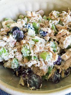 21 day fix chicken salad. maybe add some sunflower seeds/orange container?...