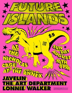 future islands music group   Future Islands T-REX /// pink