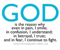 God is the reason...